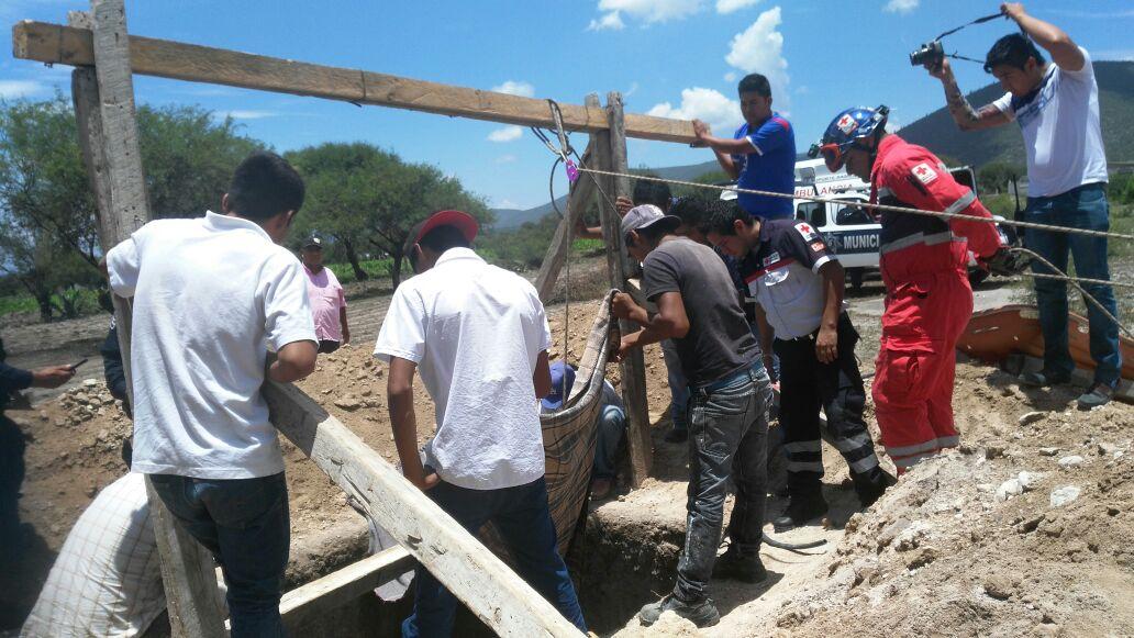 Cayó a un pozo en San Bartolo Teotepec.