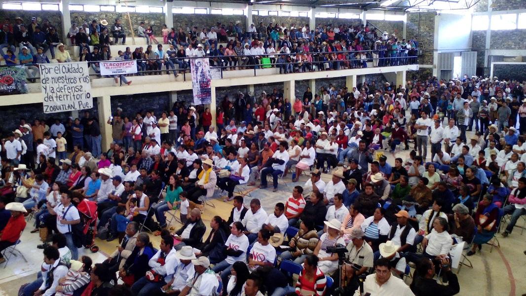 Se reunieron poblaciones de la Sierra Negra para rechazar proyecto de hidroeléctrica